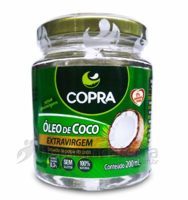 Oleo de Coco Extra Virgem 200 ml - Copra