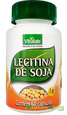 Lecitina de Soja 60 caps 1000 mgs - Vitalab