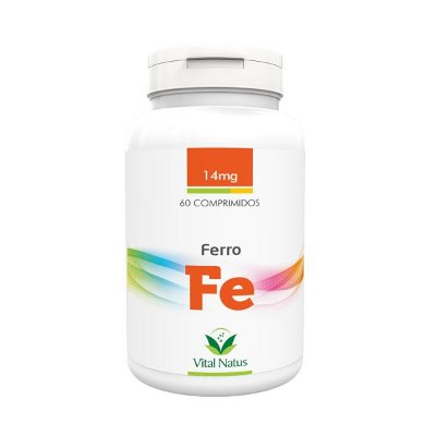 Ferro 60 Compr 14 mg - Vital Natus