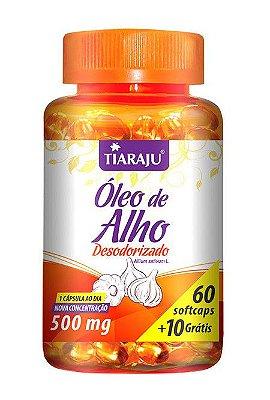 Óleo de Alho Desodorizado 70 Cápsulas 500 mgs - Tiaraju