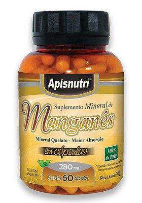 Manganês 60 Cápsulas 280 mg- Apis Nutri