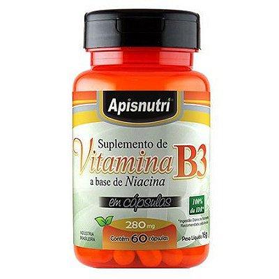 Vitamina B3 60 Cápsulas 280 mg - Apis Nutri