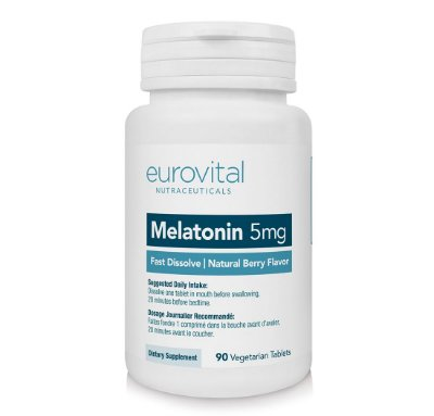 MELATONINA 5mg Rápida dissolução 90 Cápsulas - Eurovital