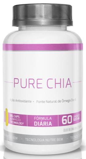 Pure Chia 500 mg 60 Cáps- Ekobé
