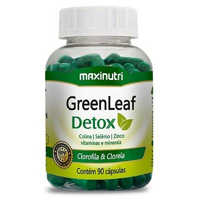 GreenLeaf Clorela e Clorofila 90 Cápsulas - Maxinutri