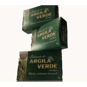 Sabonete de Argila Verde 90 Gr 3 unidades-Bionature