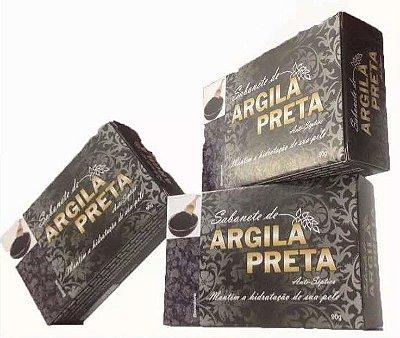 Sabonete de Argila Preta 90 Gr 3 unidades-Bionature