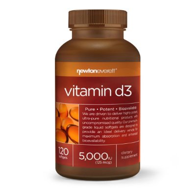 Vitamina D 5000 UI 120 Cáps Gel- Newton Everett