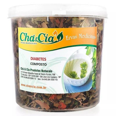Diabetes Pote 80 grs - Cha e Cia