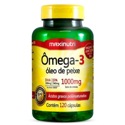 Omega 3 120 Cápsulas 1000 mg- Maxinutri