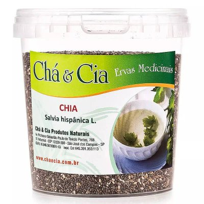 Chia- Salvia Hispanica- Pote 120 grs- Cha e Cia