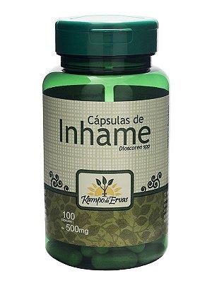 Inhame Cáps de Inhame 500 mg 100 Capsulas- Kampo de Ervas