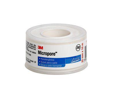Fita Micropore Varios Tamanhos e Cores- 3M