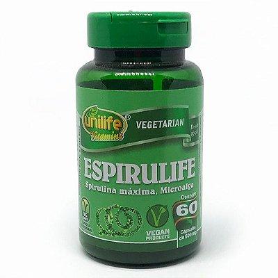 Spirulina Espirulife 500 mg 60 Caps - Unilife