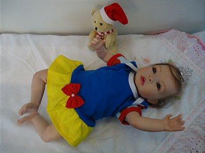 Bebê Reborn kit Tatá com 1,8 kg e 45 cm