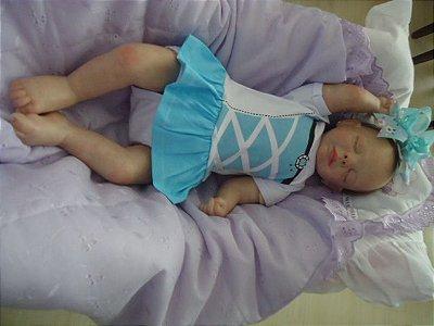 Bebê reborn Sofia com 2,2 kg e 55 cm aproximadamente