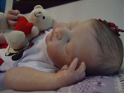 Bebê reborn menina com 2,05 kg e 50 cm aproximadamente
