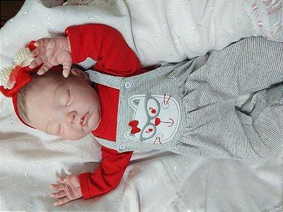 Bebê reborn menina com 55 cm e 2,15 kg aproximadamente