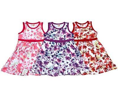 Vestido Infantil Feminino Regata Floral Jocaju
