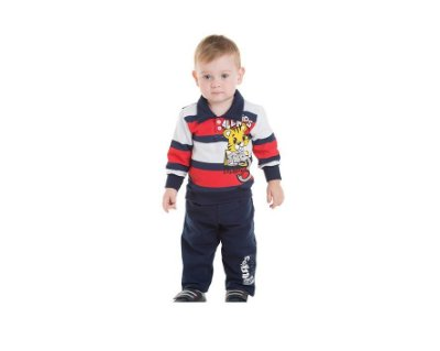Conjunto Moletom Bebê Masculino com Estampa Baby Tiger Alekids