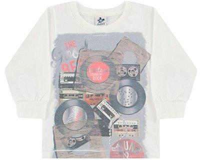 Camiseta Primeiros Passos Masculina Meia Malha Estampada Andritex