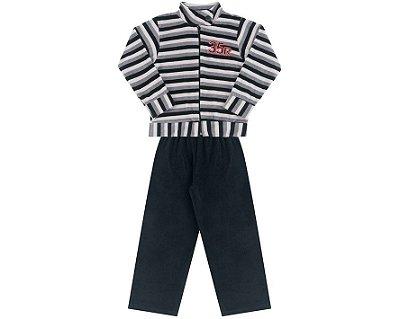 Conjunto Plush Infantil Masculino 35R Listrado Andritex