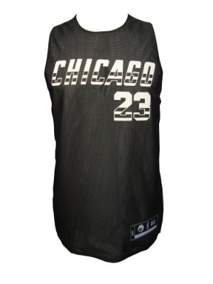 Regata Basquete Chicago 23 reversivel Preto