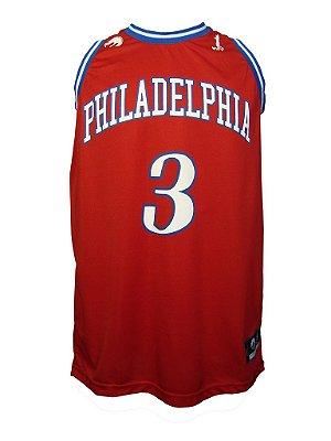 Regata Basquete Philadelphia 3 Vermelho