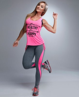 Legging Active Pink Flúor Let's Gym