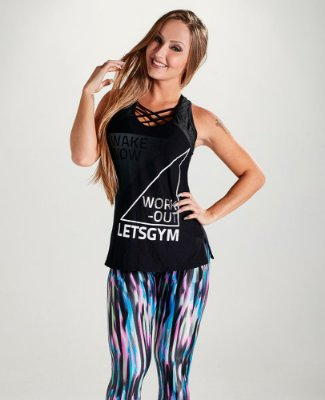 Regata Wake Up Black Let's Gym