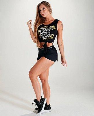 Shorts Hot Pant Black Let's Gym