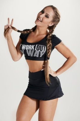 Cropped May Way Black Let's Gym