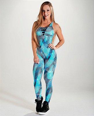 Macacão Bojo Function Blue Let's Gym