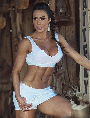 Shorts Saia Flexibility White Superhot