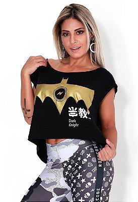 Blusa Cropped Golden Bat Rock Code