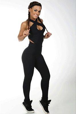 Macacão Bojo Doux Black Let's Gym