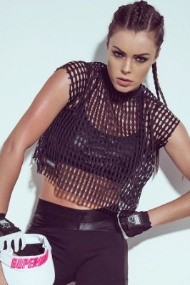 Conjunto de Blusa e Top Grid Black Superhot