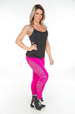 Calça Fusô Laser Pink Garota Fit