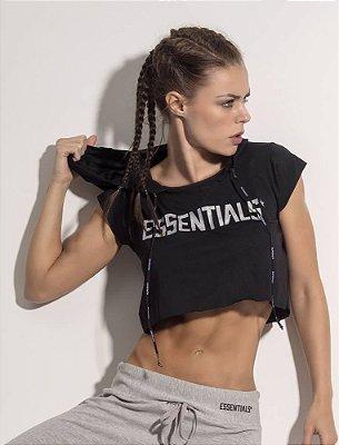Blusa Capuz Essentials Black Superhot