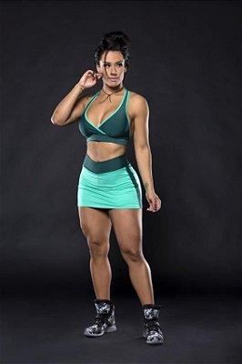 Shorts Saia Verdes Recorte Lateral Canoan
