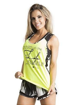 Regata Life Amarelo Neon Let's Gym