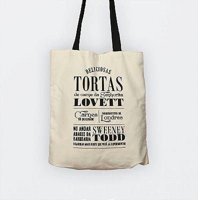 """Ecobag """"Sweeney Todd"""" para livros e presentes"""