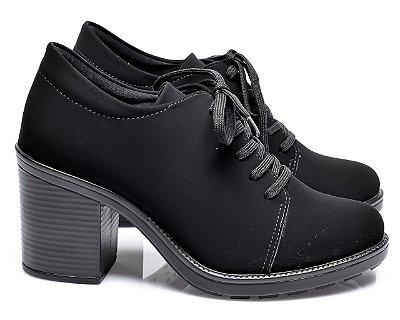 Sapato Oxford Preto Nobuck Liso Jessica Mello