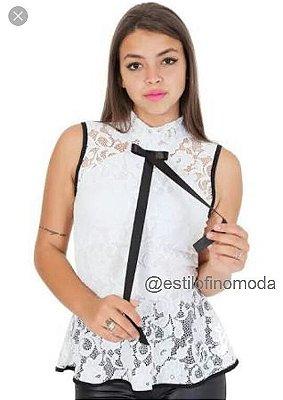 Blusa Peplum Rendada