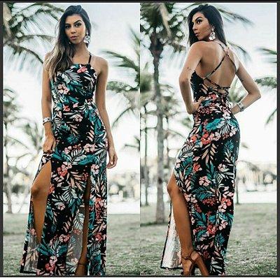 Vestido Longo Estampas Verão 2017