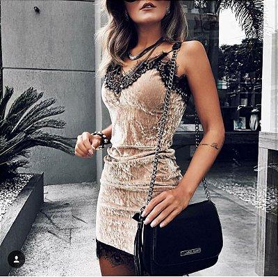 Vestido Estilo Veludo