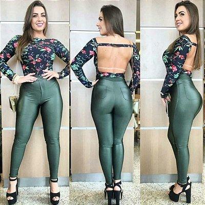 Calça Disco Verde Militar