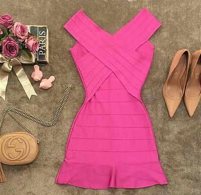 Vestido Bandagem Pink