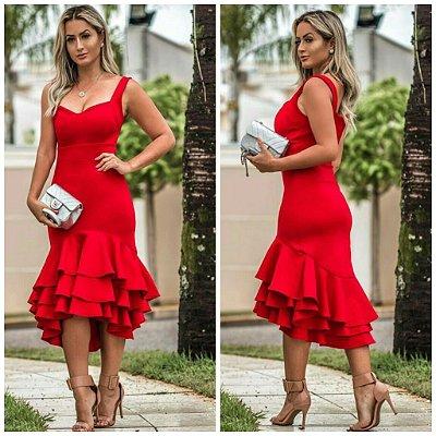 Vestido Luxo Evasy Vermelho