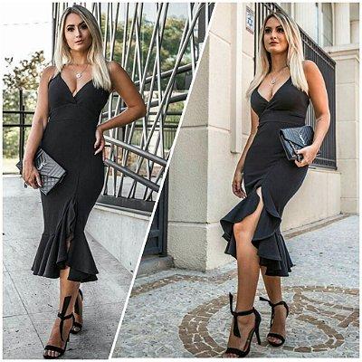 Vestido Elegancy Luxo Preto